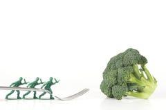 De Broccolivork van legermensen Stock Fotografie