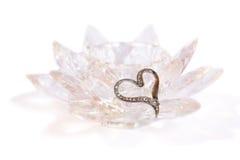 De Broche van het hart op Kristal Royalty-vrije Stock Afbeelding
