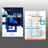 De brochure van de bedrijfs affichevlieger creativiteit abstract a4 document art. stock illustratie