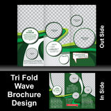 De Brochure van de Trifoldgolf Stock Foto