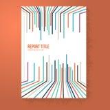 De Brochure van gegevenslijnen/Rapportmalplaatje Stock Afbeelding