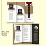De brochure van het Trifoldmalplaatje voor restaurant reclame Stock Foto's