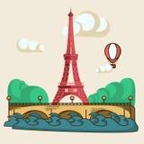 De brochure van Parijs vector illustratie
