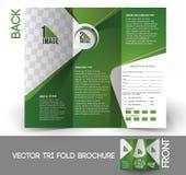 De Brochure van Trifold van golftoernooien Stock Afbeeldingen