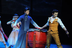 De broer-derde handeling van de gebeurtenissen van dans drama-Shawan van het verleden royalty-vrije stock foto's