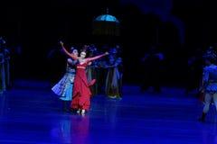 De broer en de zuster ` s gevoel-vier handeling ` belemmerden inklaring ` - Epische de Zijdeprinses ` van het dansdrama ` stock foto