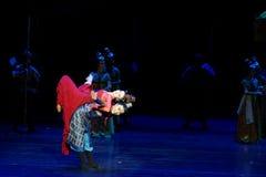 De broer en de zuster ` s gevoel-vier handeling ` belemmerden inklaring ` - Epische de Zijdeprinses ` van het dansdrama ` stock afbeeldingen