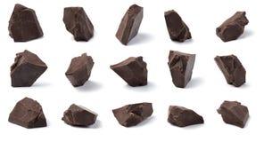 De Brokken van de chocolade royalty-vrije stock foto's