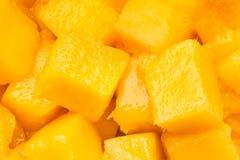De brokken van de mango Stock Afbeeldingen