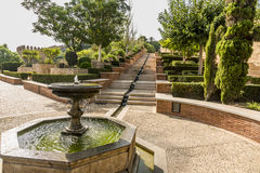 De bron Alcazaba stock fotografie