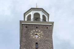 De Bron Church Tower At Amsterdam el 2018 holandés foto de archivo libre de regalías