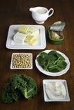 De bronnen van het voedsel van calcium Royalty-vrije Stock Fotografie