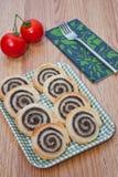 De broodjes van bladerdeegolijven stock foto