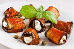 De broodjes van de aubergine Stock Fotografie