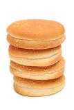 De broodjes van de hamburger Stock Foto