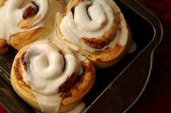 De Broodjes van de kaneel Stock Foto