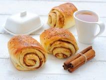 De broodjes van de kaneel Stock Foto's