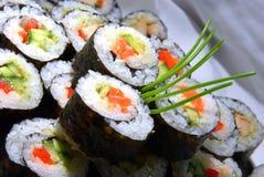 De broodjes van de Sushi van Nori Stock Foto's