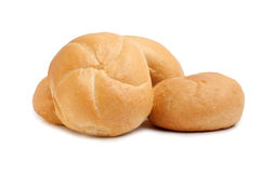 De broodjes van de tarwe die op wit worden geïsoleerdo Stock Fotografie