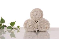 De broodjes van handdoeken Stock Fotografie