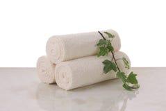 De broodjes van handdoeken Stock Afbeeldingen