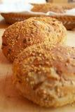 De broodjes van het brood Stock Afbeelding