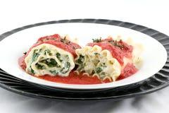 De broodjes van lasagna's? waarom niet Royalty-vrije Stock Foto