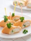 De broodjes van pannekoeken stock afbeelding