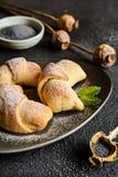 De broodjes van papaverzaden Stock Foto