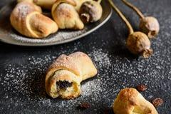De broodjes van papaverzaden Royalty-vrije Stock Foto