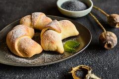 De broodjes van papaverzaden Stock Foto's