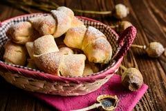 De broodjes van papaverzaden Stock Afbeelding