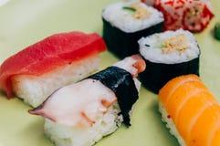 De Broodjes van sushi Stock Foto's