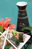 De broodjes van sushi met belangenreeks Stock Foto