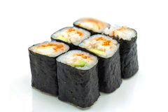 De Broodjes van sushi met Nori Royalty-vrije Stock Foto's