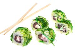 De broodjes van sushi met tonijn Royalty-vrije Stock Afbeelding