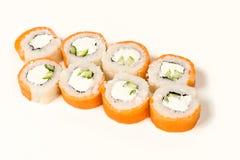 De broodjes van sushi met zalm Royalty-vrije Stock Afbeeldingen