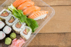 De broodjes van sushi met zalm Royalty-vrije Stock Foto