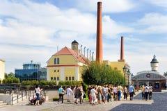 De brouwerij van pilsener Urquell, Pilsen, Bohemen, Tsjechische republiek Royalty-vrije Stock Afbeelding