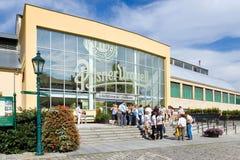 De brouwerij van pilsener Urquell, Pilsen, Bohemen, Tsjechische republiek Royalty-vrije Stock Foto's