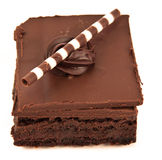De brownie van de chocolade Stock Afbeeldingen