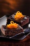 De Brownie van de chocolade Stock Foto