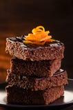 De Brownie van de chocolade Royalty-vrije Stock Foto's