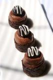 De browniesoufflé van de chocolade royalty-vrije stock afbeelding
