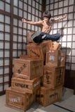 De Bruce Lee da cera do museu das artes marciais escultura dentro Fotos de Stock Royalty Free