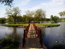 De brug aan het eiland Royalty-vrije Stock Fotografie