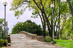 De brug aan Park Chatuchak met Lanscape Stock Afbeelding