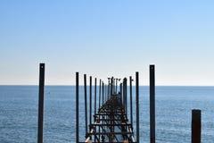 De brug in blauw royalty-vrije stock foto's