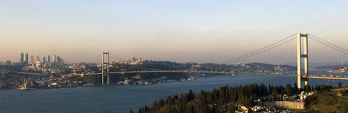 De brug Bosphorus. Istanboel Stock Foto's