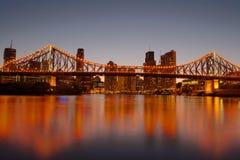 De Brug Brisbane van het verhaal Stock Afbeeldingen